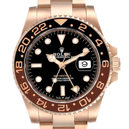 Photo of Rolex GMT Master II Everose Gold Mens Watch 126715 Box Card