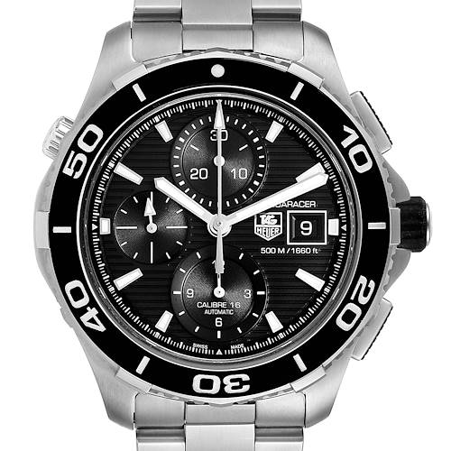 Photo of Tag Heuer Aquaracer Black Dial Steel Mens Watch CAK2110