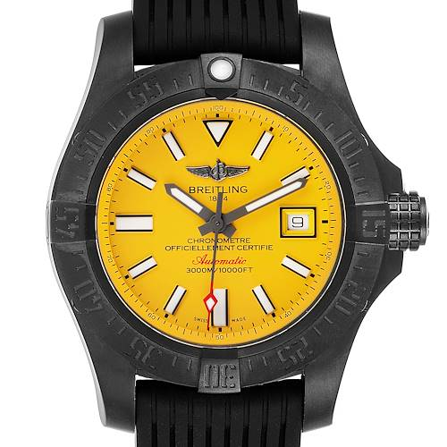 Photo of Breitling Avenger II Seawolf Cobra Yellow LE Blacksteel Watch M17331 Box Papers