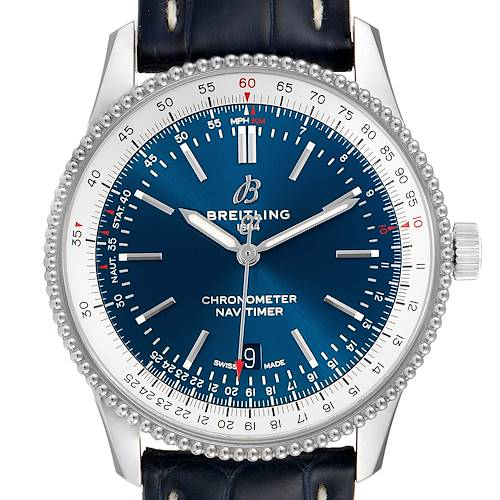 Photo of Breitling Navitimer 1 Blue Dial 41mm Steel Mens Watch A17326 Box Papers
