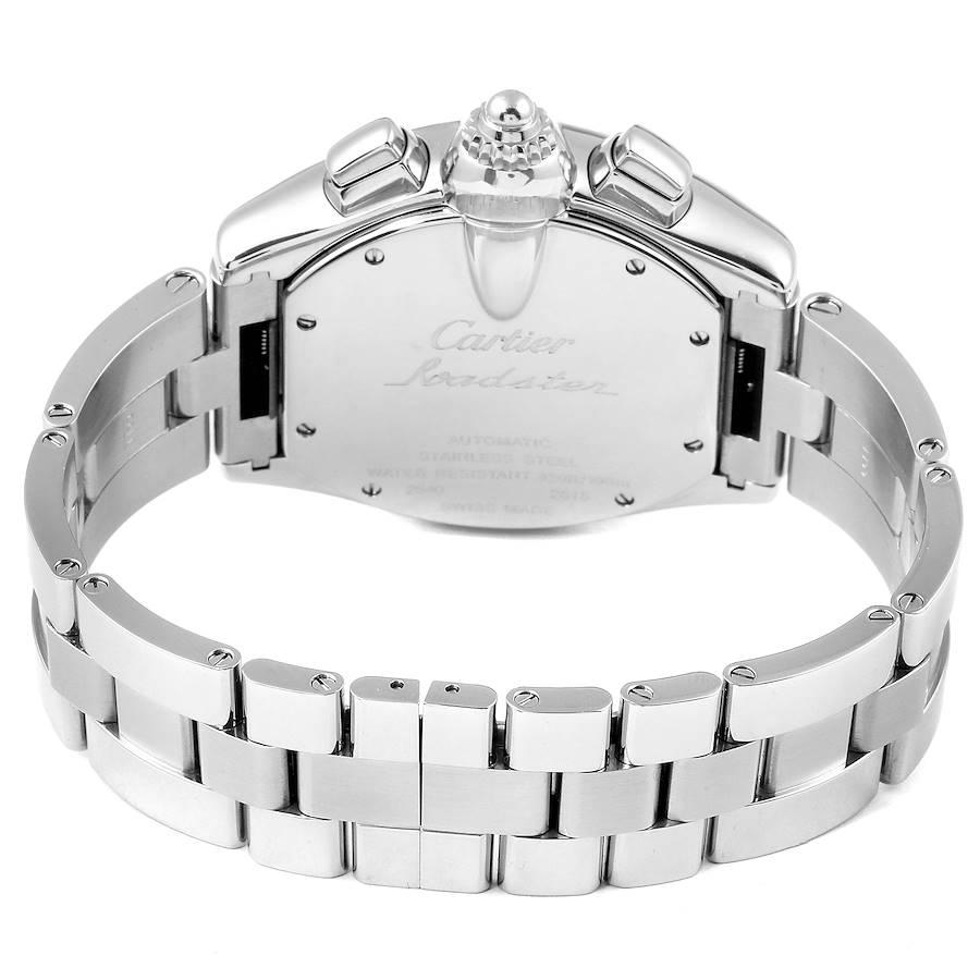 Cartier Roadster XL Chronograph Black Dial Mens Watch W62020X6 SwissWatchExpo