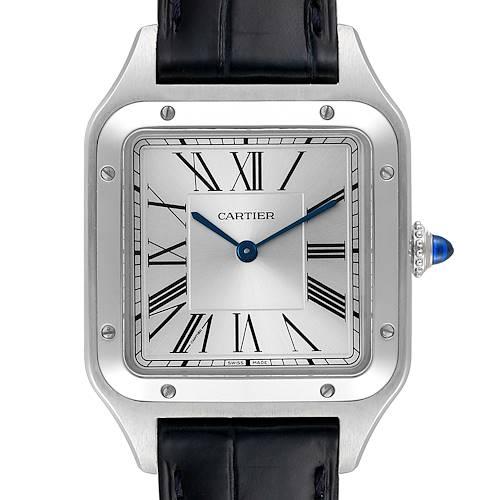 Photo of Cartier Santos Dumont Large Steel Mens Watch WSSA0022