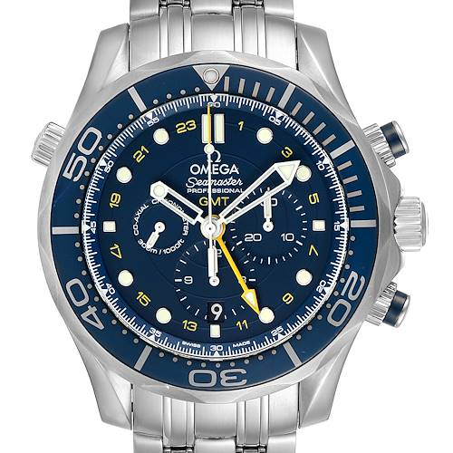 Photo of Omega Seamaster 300 GMT Chronograph Watch 212.30.44.52.03.001 Box Card
