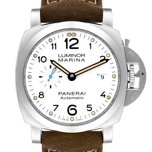 Photo of Panerai Luminor Marina 1950 White Dial Automatic Watch PAM01499 Box Papers