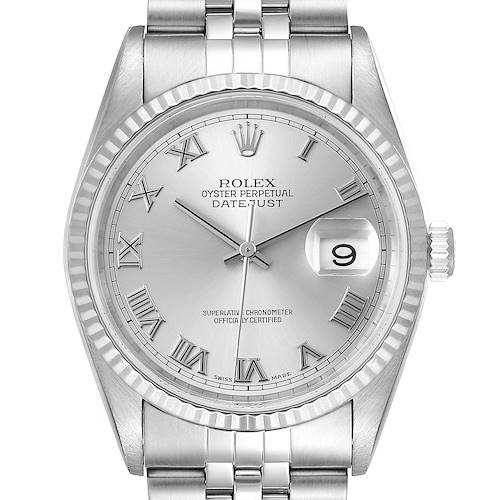 Photo of Rolex Datejust Steel White Gold Jubilee Bracelet Mens Watch 16234