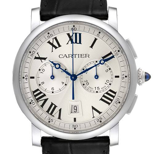 Photo of Cartier Rotonde Chronograph Steel Mens Watch WSRO0002 Box Papers