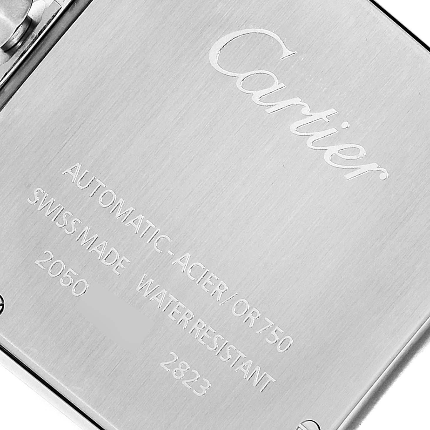 Cartier Santos Galbee XL Steel Yellow Gold Mens Watch W20099C4 Box Papers SwissWatchExpo