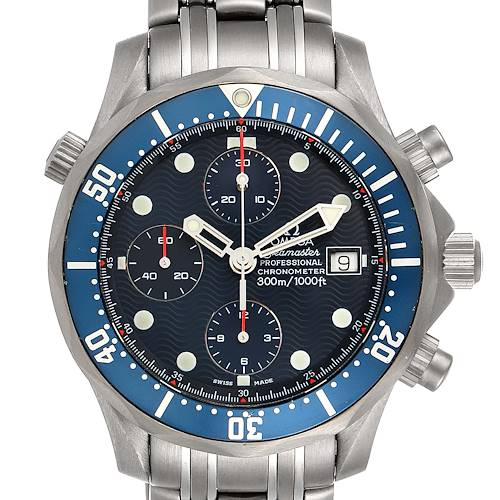 Photo of Omega Seamaster Chrono Diver Blue Dial Titanium Mens Watch 2298.80.00
