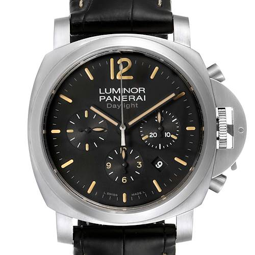 Photo of Panerai Luminor Daylight Chronograph Steel Mens Watch PAM00356