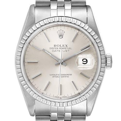 Photo of Rolex Datejust Silver Dial Jubilee Bracelet Steel Mens Watch 16220