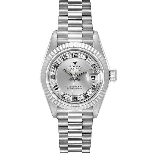 Photo of Rolex President White Gold Myriad Diamond Dial Ladies Watch 69179 Box Papers
