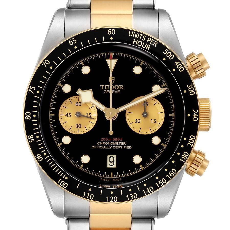 Tudor Heritage Black Bay Steel Yellow Gold Mens Watch 79363 Box Papers SwissWatchExpo