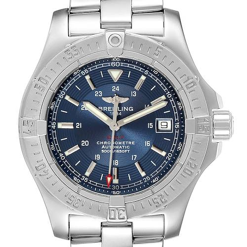Photo of Breitling Colt Blue Dial Automatic Steel Mens Watch A17380 Box Papers