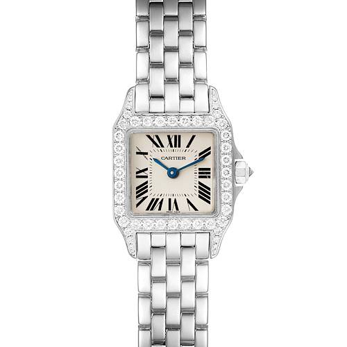 Photo of Cartier Santos Demoiselle White Gold Diamond Ladies Watch WF9005Y8