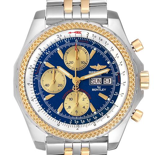 Photo of Breitling Bentley Motors GT Blue Dial Steel Yellow Gold Mens Watch D13362