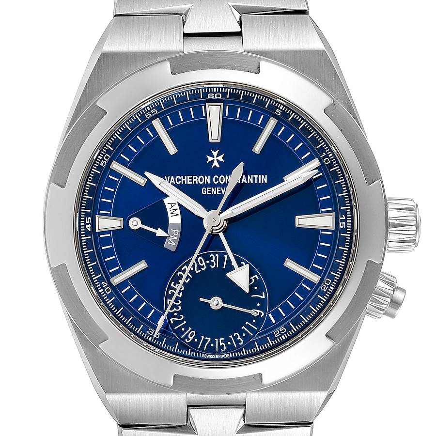 Vacheron Constantin Overseas Dual Time Blue Dial Watch 7900V Box Papers SwissWatchExpo