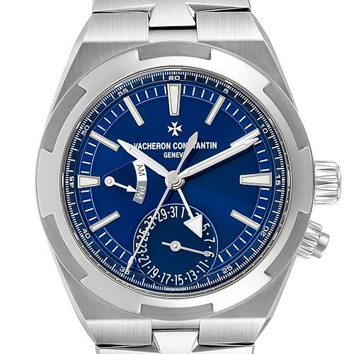 Photo of Vacheron Constantin Overseas Dual Time Blue Dial Watch 7900V Box Papers