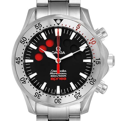 Photo of Omega Seamaster Apnea Jacques Mayol Black Dial Mens Watch 2595.50.00 Card