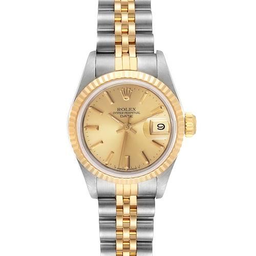 Photo of Rolex Datejust Steel Yellow Gold Fluted Bezel Ladies Watch 69173 Box