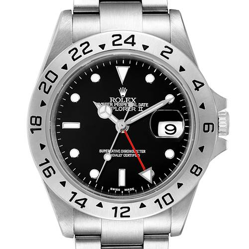 Photo of Rolex Explorer II Black Dial Automatic Steel Mens Watch 16570 Box