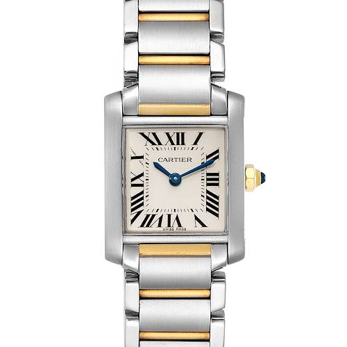 Photo of Cartier Tank Francaise 20mm Steel Yellow Gold Ladies Watch W51007Q4 Box
