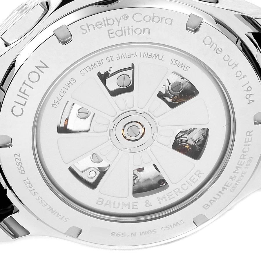 Baume Mercier Clifton Club Shelby Cobra 1964 Limited Watch 10342 Unworn SwissWatchExpo