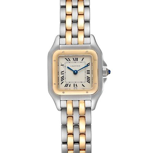Photo of Cartier Panthere Ladies Steel Yellow Gold 2 Row Ladies Watch W25029B6 Box