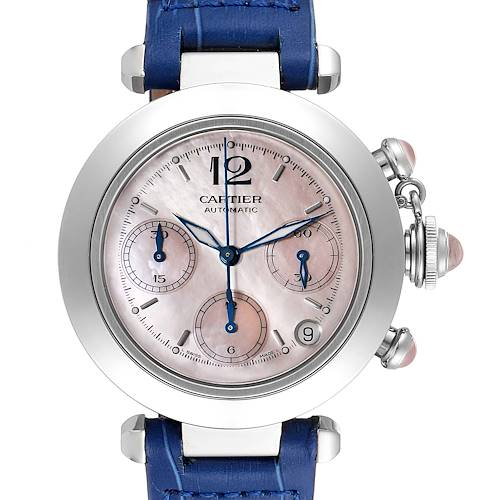 Photo of Cartier Pasha C Christmas Limited Edition MOP Steel Ladies Watch W3106599