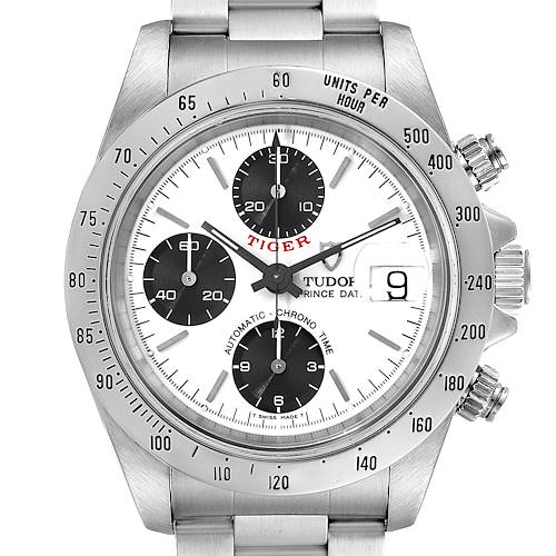 Photo of Tudor Prince Tiger White Dial Chronograph Steel Mens Watch 79280