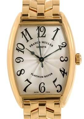 Photo of Franck Muller Men 18k Yellow Gold Cintree Curvex 2852 Sc