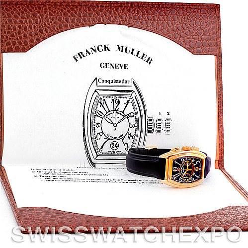 Franck Muller Conquistador Chrono 18K Yellow Gold Watch 8000 SC SwissWatchExpo