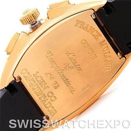 5590 Franck Muller Conquistador Chrono 18K Yellow Gold Watch 8000 SC SwissWatchExpo