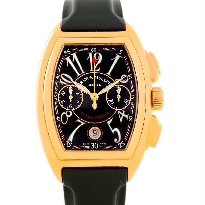 Photo of Franck Muller Conquistador Chrono 18K Yellow Gold Watch 8000 SC