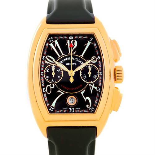 Photo of Franck Muller Conquistador Chrono 18K Yellow Gold Watch 8000 SC