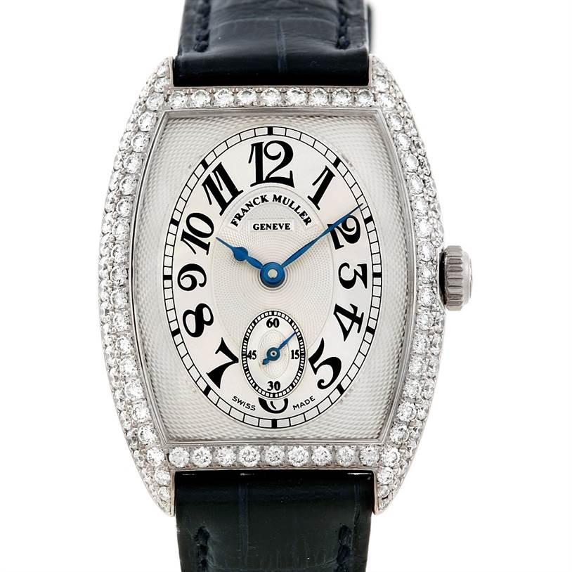 6909 Franck Muller Chronometro 7502 S6 D 18K White Gold Diamond Watch SwissWatchExpo