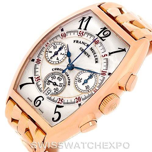 7827 Franck Muller Casablanca Chronograph 18K Rose Gold Watch 5850 CC AT SwissWatchExpo