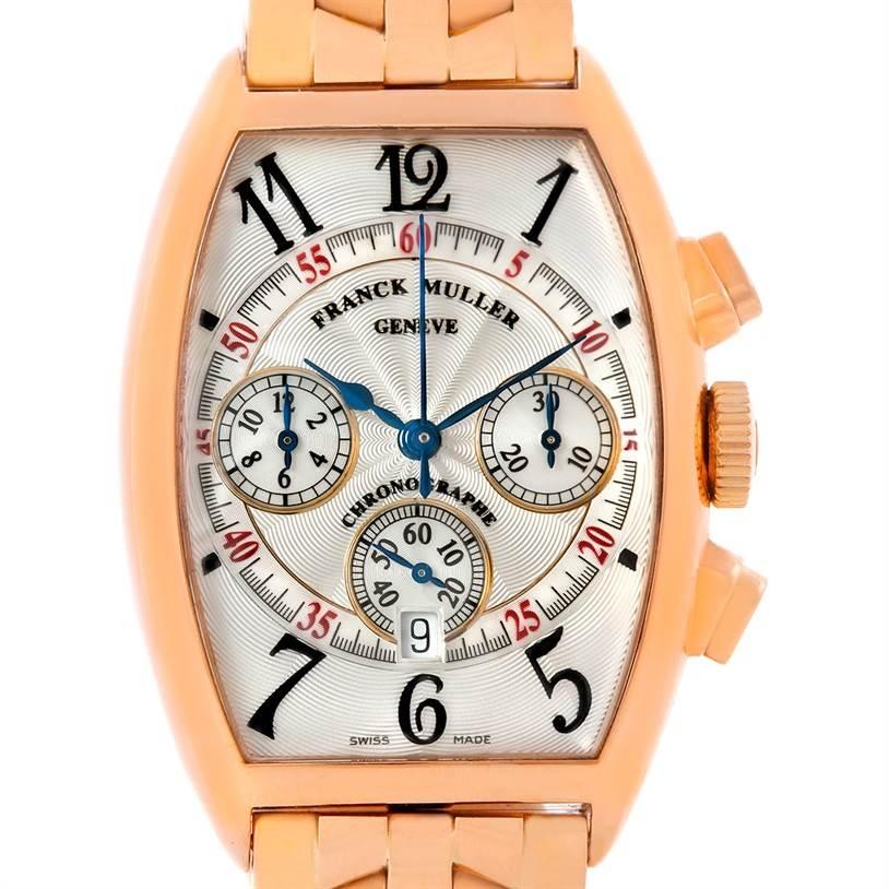 Photo of Franck Muller Casablanca Chronograph 18K Rose Gold Watch 5850 CC AT