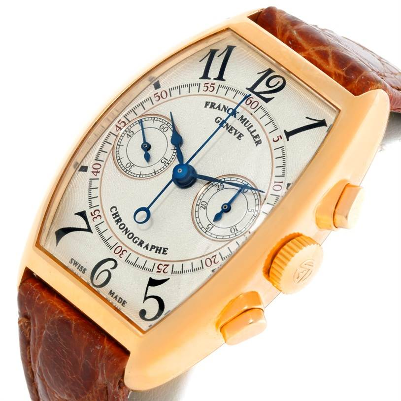 9017 Franck Muller Complications Chronograph 18K Yellow Gold Watch 5850 CC SwissWatchExpo