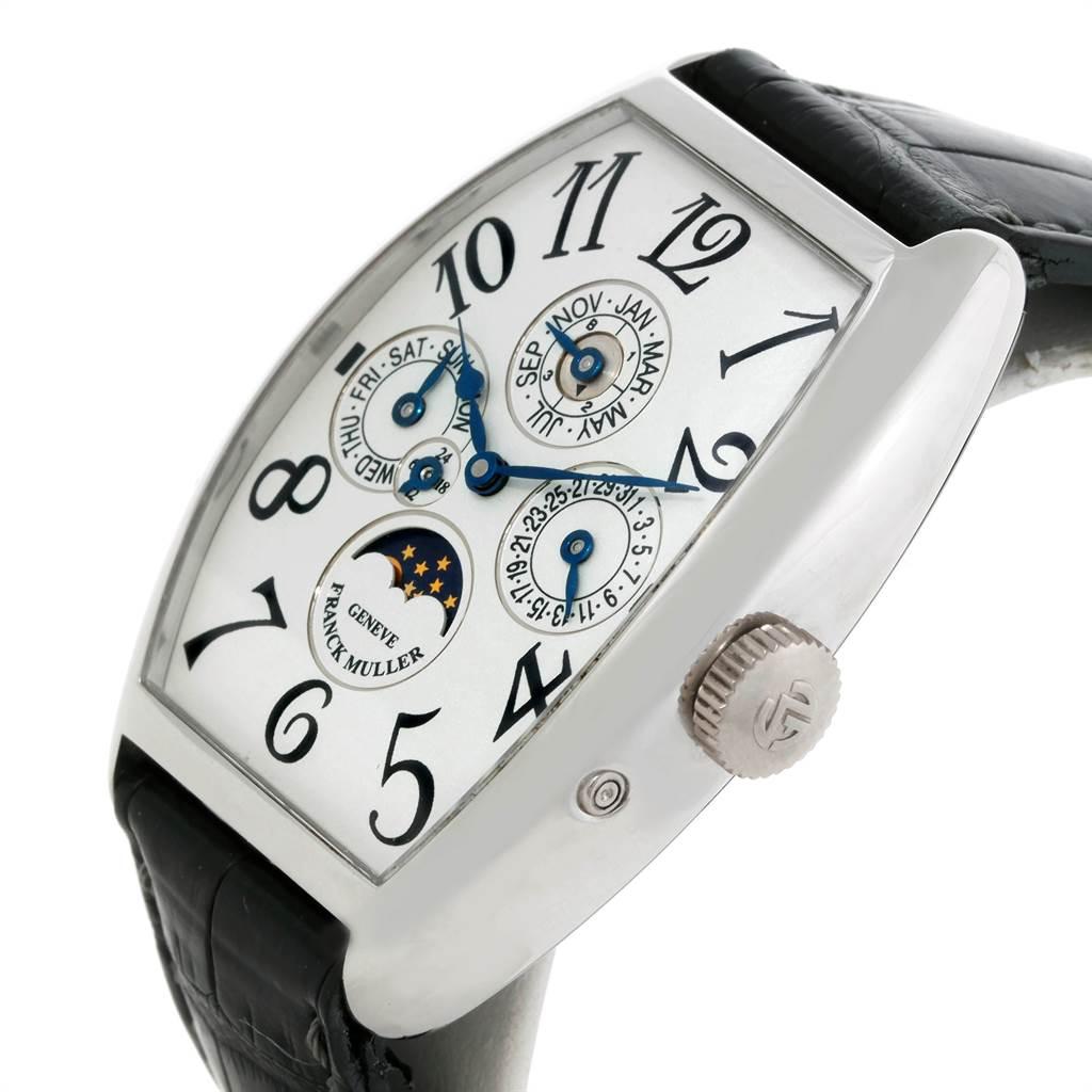 9093 Franck Muller Casablanca Perpetual Calendar Platinum Mens Watch 5850 QP SwissWatchExpo