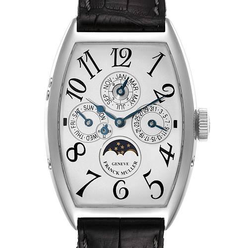 Photo of Franck Muller Casablanca Perpetual Calendar Platinum Mens Watch 5850 QP