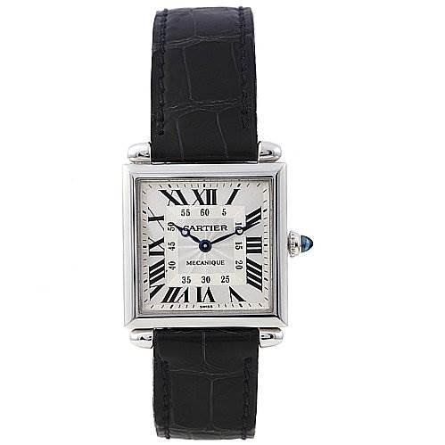 2231 Cartier Tank Obus 18k White Gold Watch 2380  SwissWatchExpo