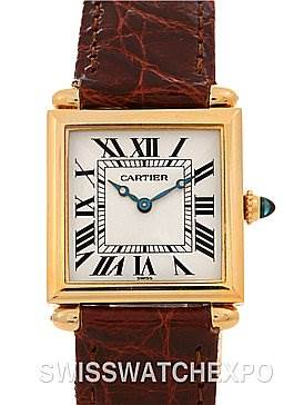 2482 Cartier Tank Obus 18k Yellow Gold Watch w Papers 1997 SwissWatchExpo