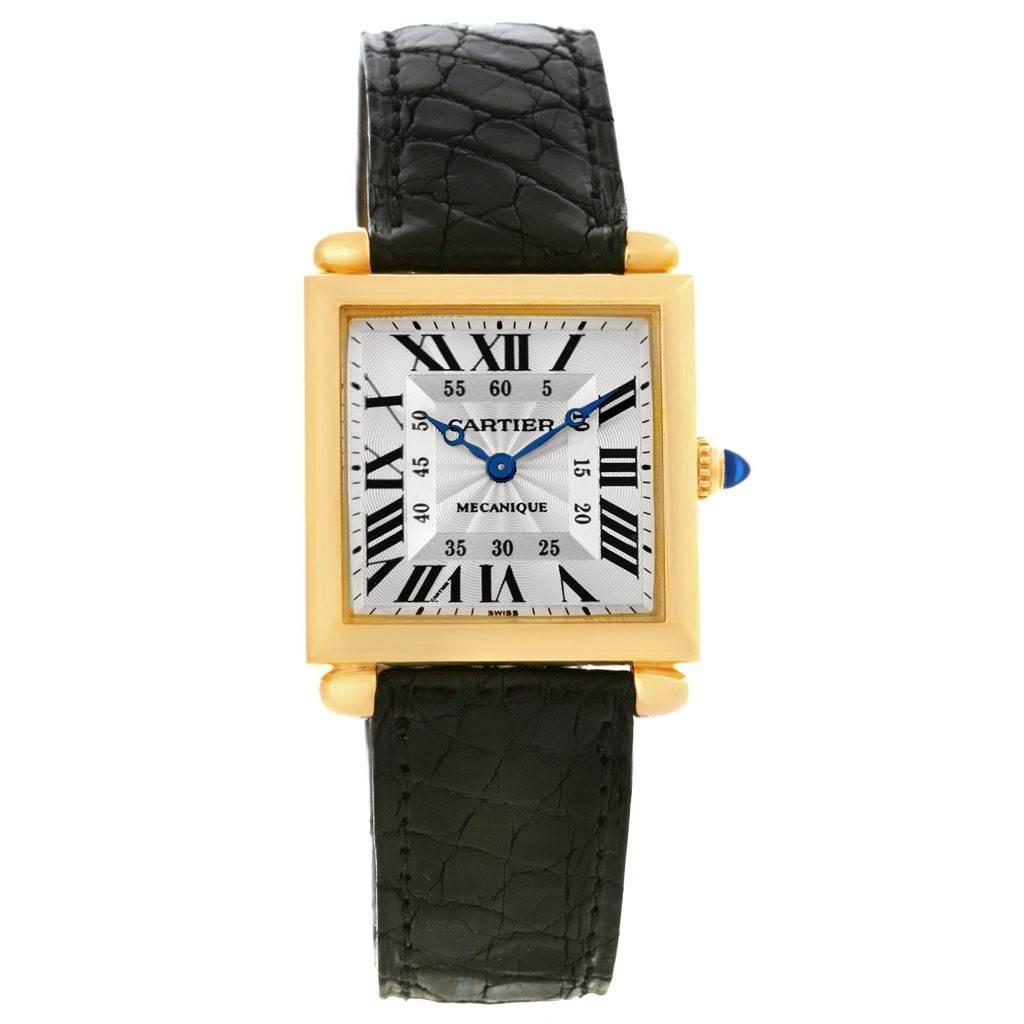 4320 Cartier Tank Obus Yellow Gold  Privee Paris CPCP Manual Watch W1527551 SwissWatchExpo