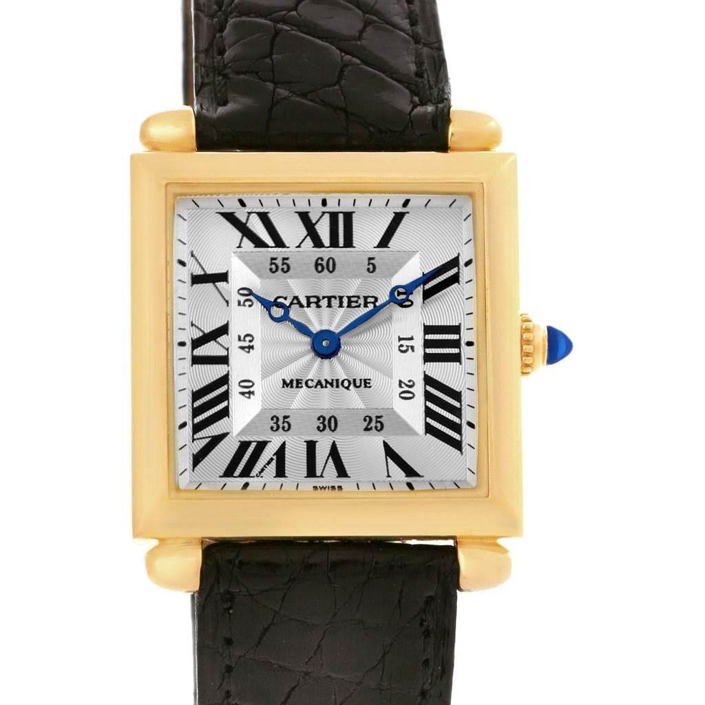 ... 4320 Cartier Tank Obus Yellow Gold Privee Paris CPCP Manual Watch  W1527551 SwissWatchExpo ...