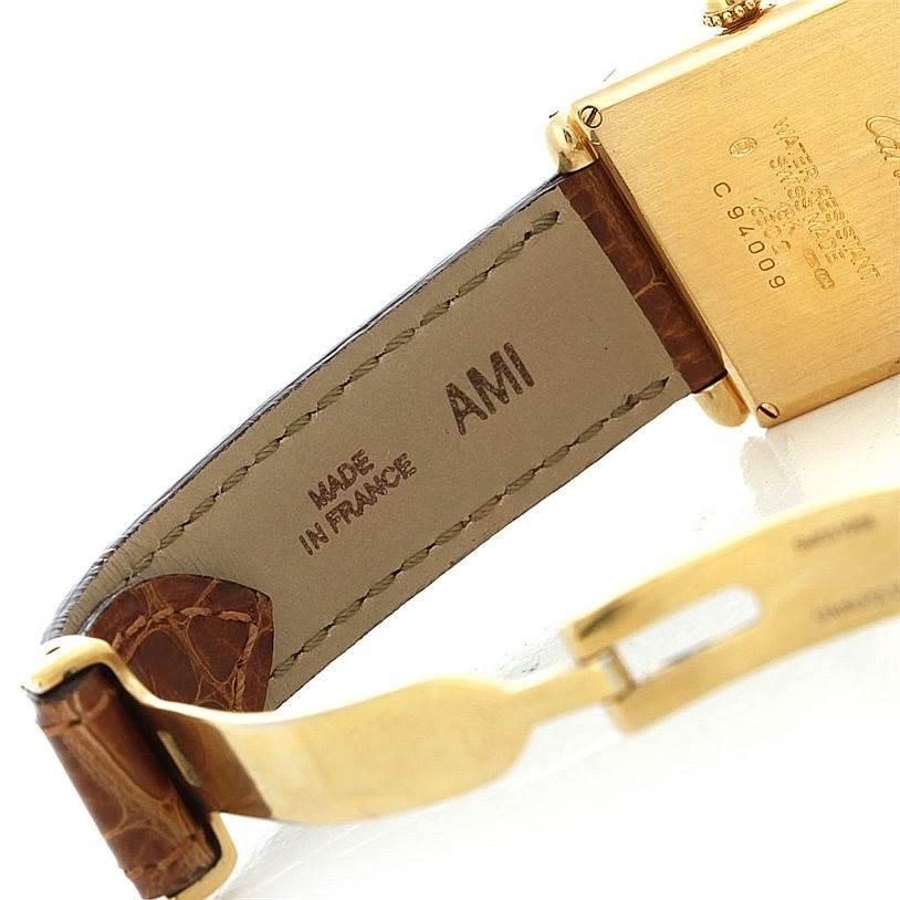5182 Cartier Tank Obus 18k Yellow Gold Quartz Watch SwissWatchExpo