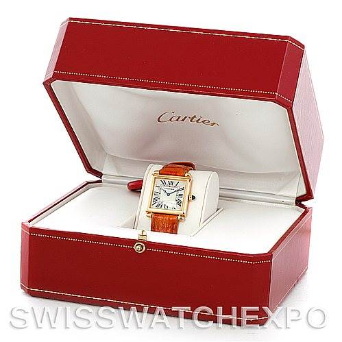 5759 Cartier Tank Obus 18k Yellow Gold Quartz Watch SwissWatchExpo