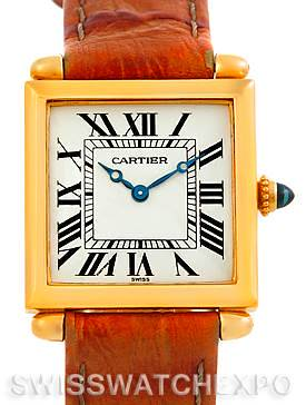 Photo of Cartier Tank Obus 18k Yellow Gold Quartz Watch