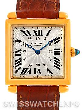 Photo of Cartier Tank Obus 18k Yellow Gold Mecanique Watch W1527551