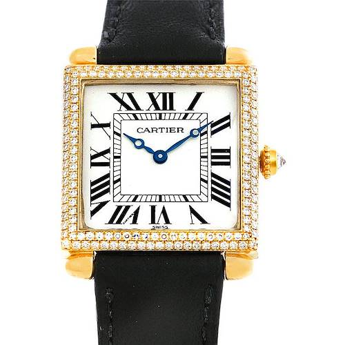 Photo of Cartier Tank Obus 18k Yellow Gold Diamond Watch W1512256