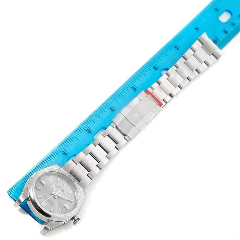 Rolex No Date Mens Silver Dial Stainless Steel Watch 116000 Unworn SwissWatchExpo